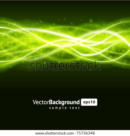 Green smooth waveform vector background. Eps 10. - stock vector