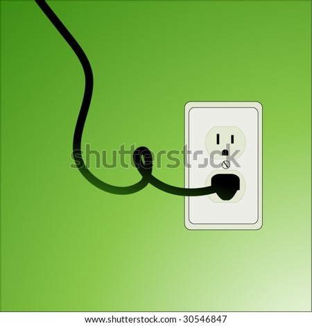 green socket environment concept 1 - stock vector