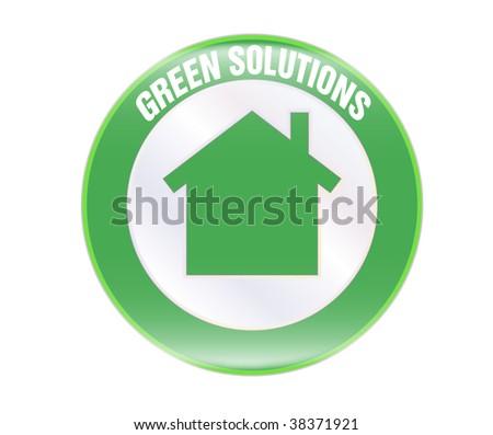 green solution award - stock vector