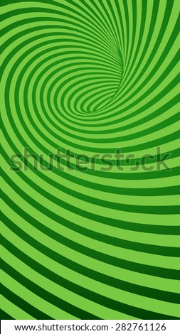 Green Spiral Striped Abstract Tunnel Background. Vector Illustration - stock vector