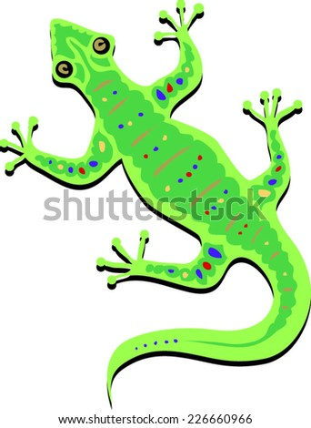 green spotted lizard