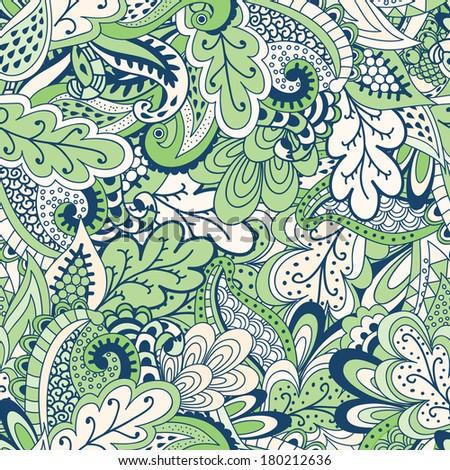 Green Spring vegetation background - stock vector