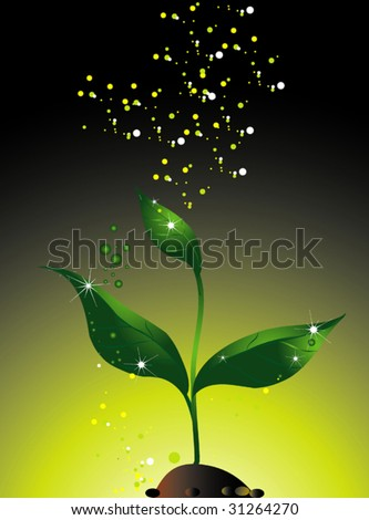 Green sprout - stock vector