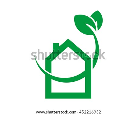 green sprout house icon