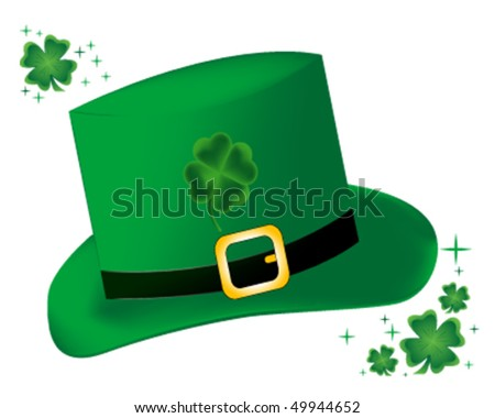 Green St. Patrick's Day hat - stock vector