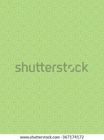 Green star pattern over green color background - stock vector