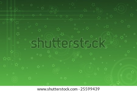 Green Stars Background Vector Illustration - stock vector