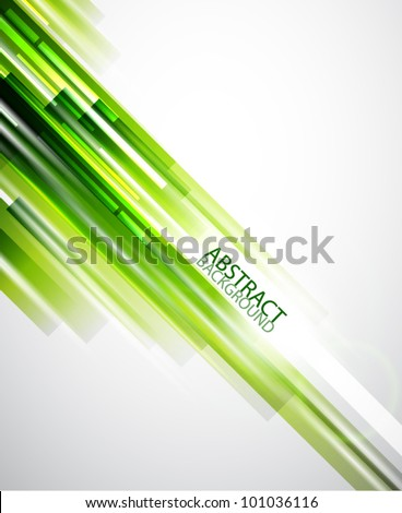 Green straight lines abstract background - stock vector