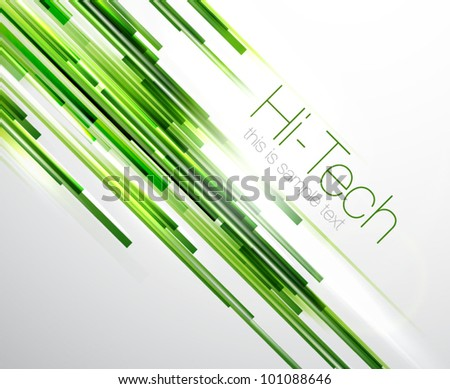 Green straight lines background - stock vector