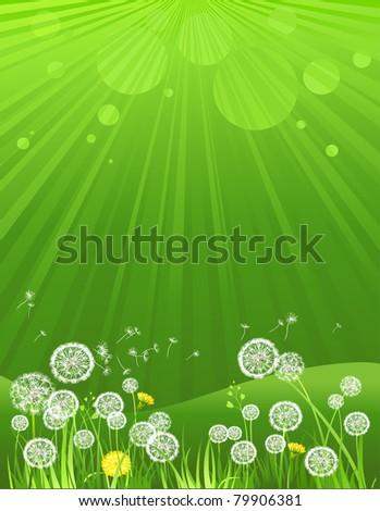Green summer background. eps 10 - stock vector
