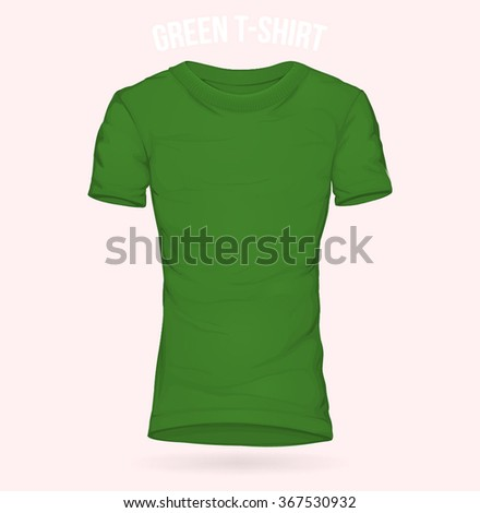 Green t-shirt Regular template for woman
