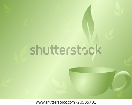 Green Tea background (vector); a JPG version are also available - stock vector