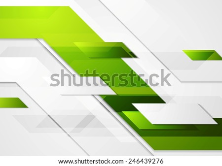 Green tech corporate motion background. Vector design - stock vector