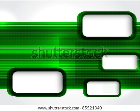 Green template for business. vector illustration