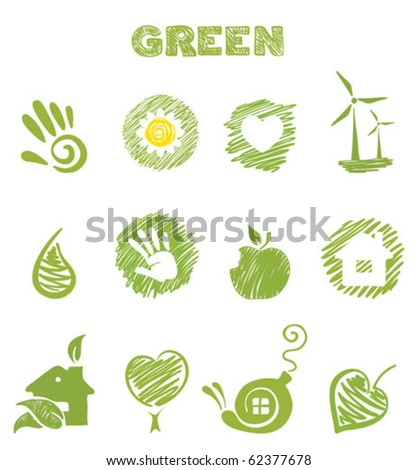 Green Theme - stock vector