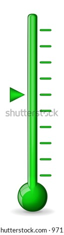 Green thermometer vector