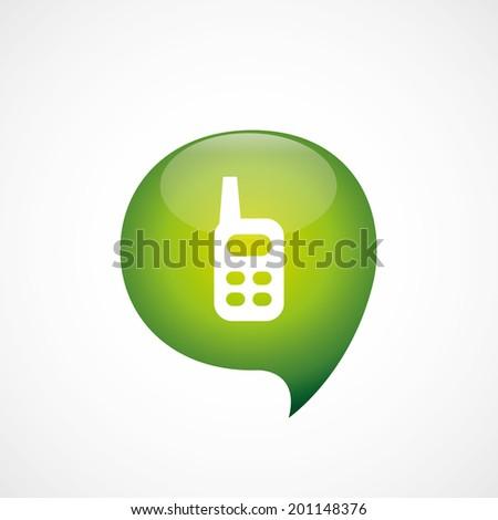 green think bubble radio icon - stock vector