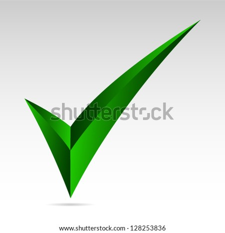 Green tick sign. Yes, mark, vote  Vector illustration - stock vector