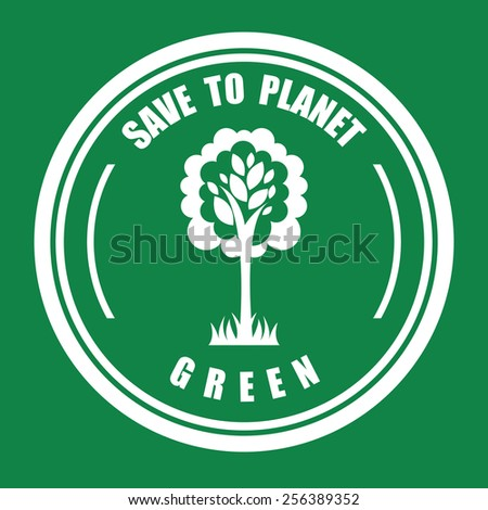 green tree design, vector illustration eps10 graphic