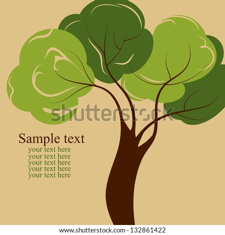 green tree with leaves background