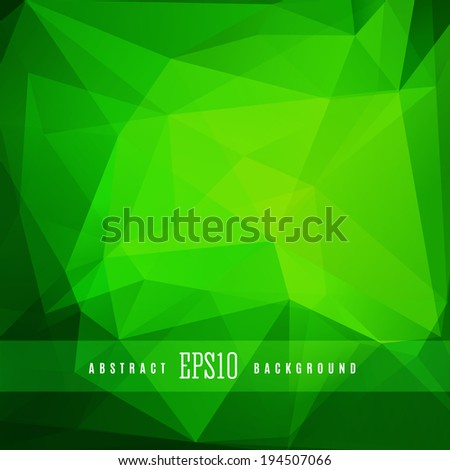 Green triangle colorful abstract design background template