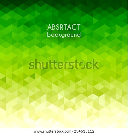 Green triangular background - eps10 - stock vector