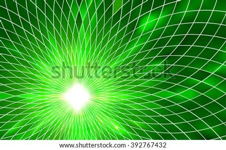 Green vector abstract background  - stock vector