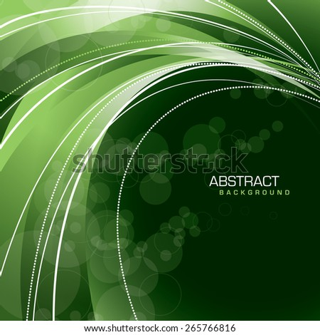Green Vector Background. Abstract Wavy Illustration. - stock vector