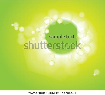 Green Vector Background With Text Space - stock vector