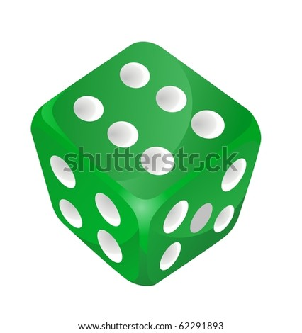 green vector dice - stock vector