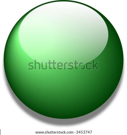 Green vector glass web button - stock vector