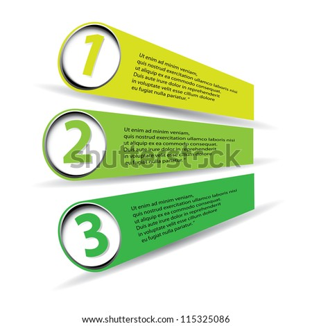 green vector Paper Progress background / product choice or versions - stock vector