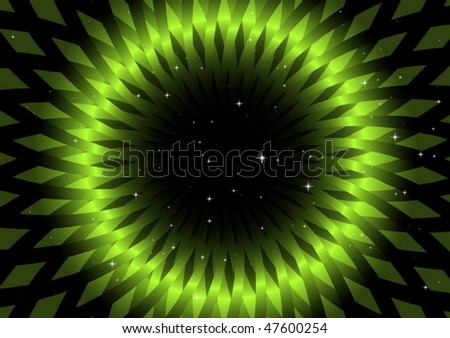 Green vector swirl and stars