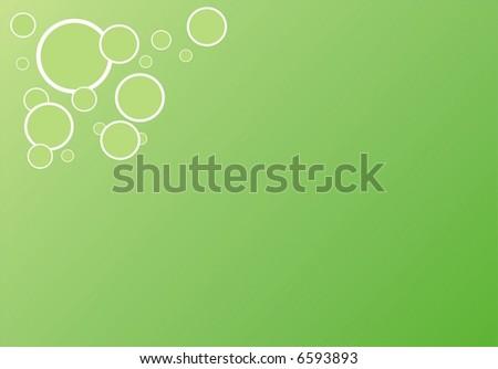 Green vector texture with circles - stock vector
