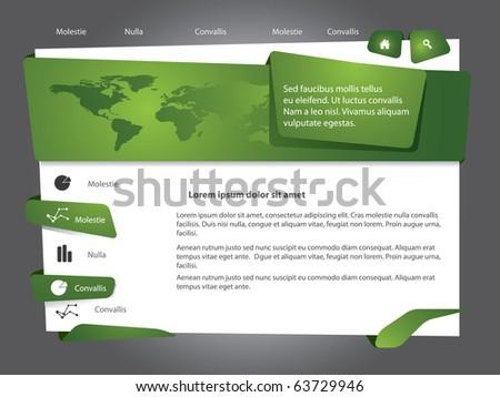 Green Vector web site design template - stock vector