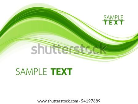 Green wave. Vector - stock vector