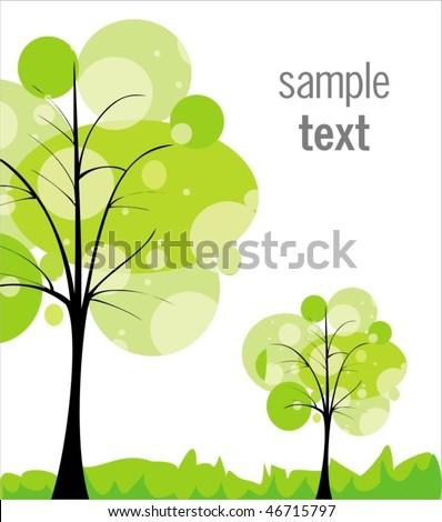 Green world - stock vector