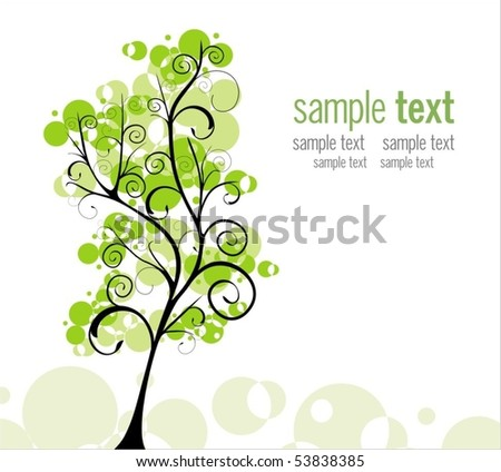 Green world - stock vector