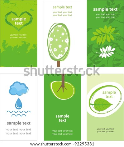 Green world. Vector card - stock vector