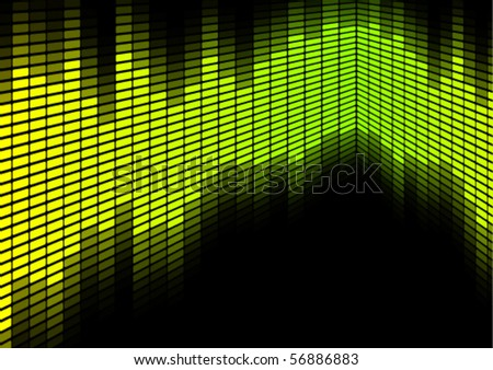 Green / Yellow Equalizer - stock vector