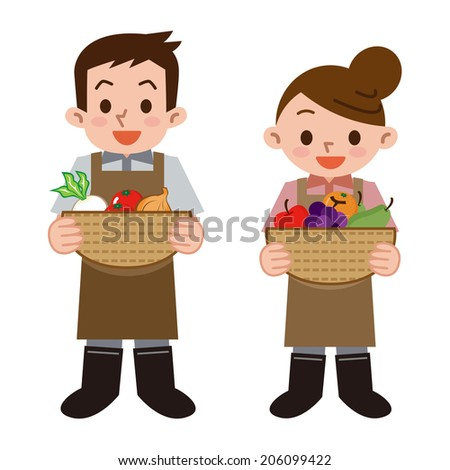 Greengrocer - stock vector