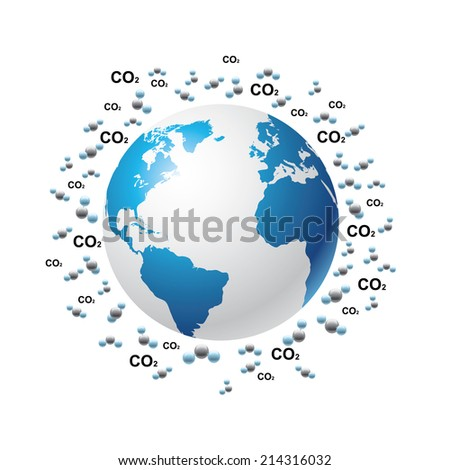 Greenhouse gases---Carbon dioxide - stock vector