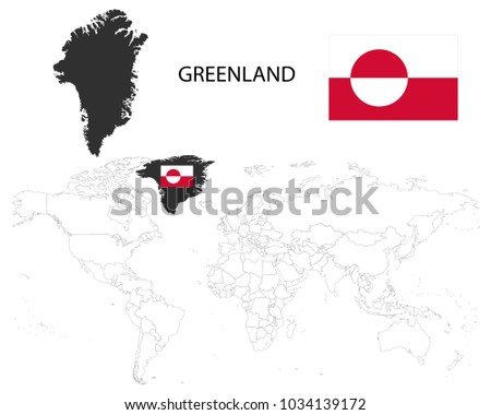Greenland denmark map on world map stock vector hd royalty free greenland denmark map on a world map with flag on white backgroundmap gumiabroncs Image collections