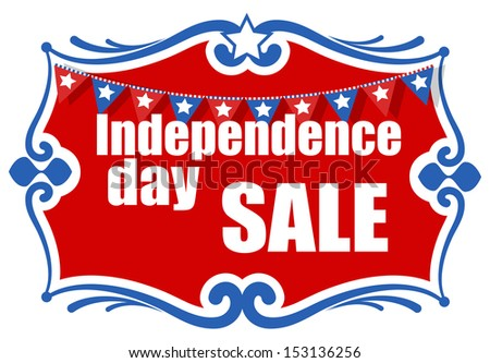 greeting and sale banner - 4th of july vector illustration - stock vector