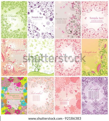Greeting banners - stock vector