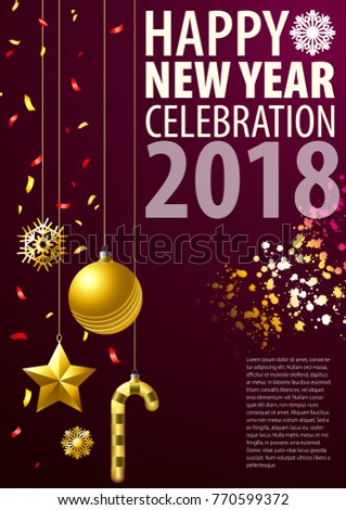 Greeting blank template new year on stock vector 770599372 greeting blank template for new year on christmas holiday new years accessories are in the m4hsunfo