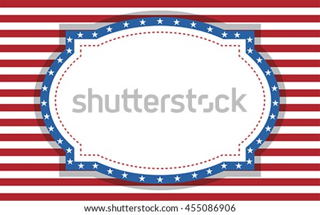 Greeting card background, vector vote Happy Labor Day, Independence day, USA. poster design. American postcard.Confederate background National Day , - stock vector