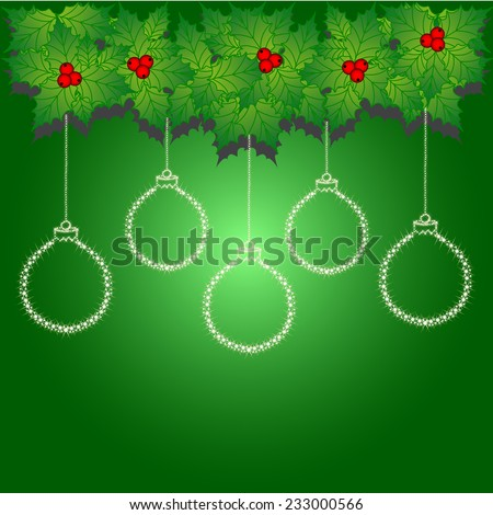 Greeting card. Christmas wreath. Vector