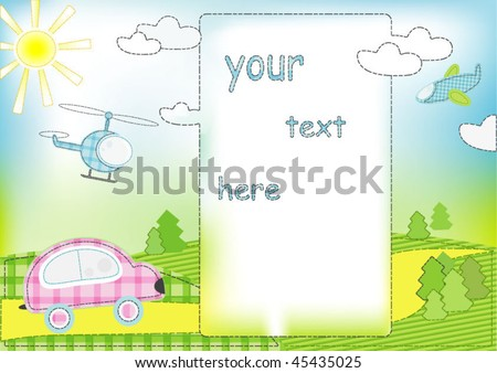 greeting card for boy - stock vector