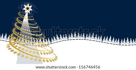 Greeting card for Christmas and new year - stock vector